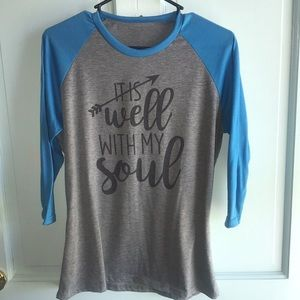 Tops - It is Well with My Soul baseball tee